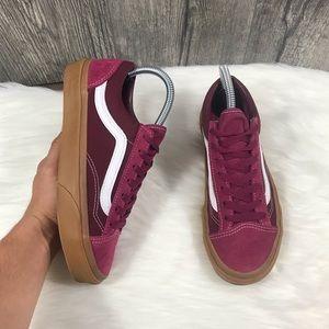 Vans Burgundy Gum Sole Sneakers
